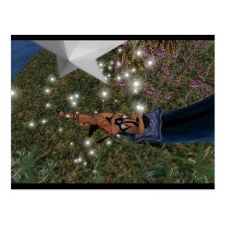 Buenas noches ligeras de la estrella tarjetas postales