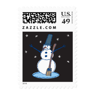 Buenas noches Sr. Snowman Postage Envio