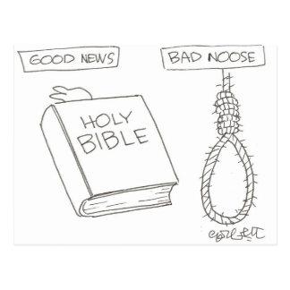 ¡Buenas noticias! (Biblia) mala soga (el nudo de Postales
