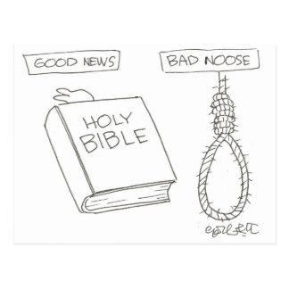 ¡Buenas noticias! (Biblia) mala soga (el nudo de Tarjetas Postales