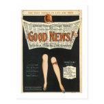 ¡Buenas noticias! Cubierta del cancionero del vint Postal