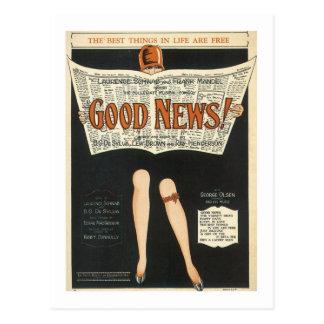 ¡Buenas noticias! Cubierta del cancionero del vint Tarjetas Postales