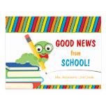 Buenas noticias de la escuela con el ratón de postales