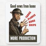 Buenas noticias del hogar -- Más producción Alfombrilla De Ratón