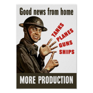 Buenas noticias del hogar - propaganda de WWII Póster