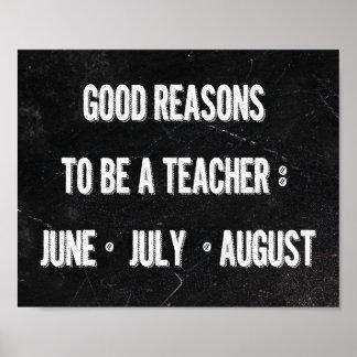 Buenas razones para ser un profesor posters