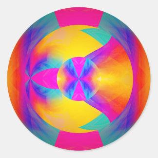 Buenas vibraciones pegatina redonda