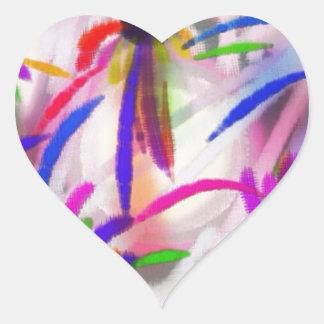 Buenas vibraciones pegatina en forma de corazón