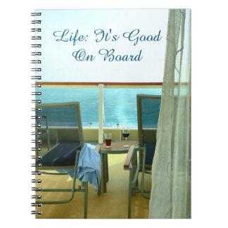 Bueno a bordo el diario de la travesía spiral notebook