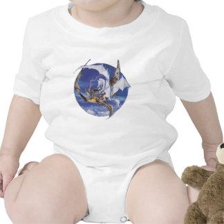 Bueno contra mal traje de bebé