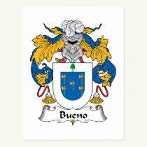 Bueno Family Crest Postcard