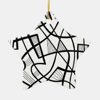 Bueno intuitivo generoso bien escogido adorno navideño de cerámica en forma de estrella