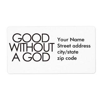 Bueno sin dios etiqueta de envío