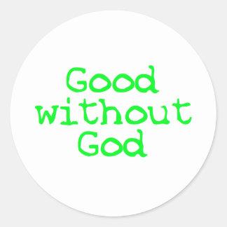 bueno sin dios pegatina redonda
