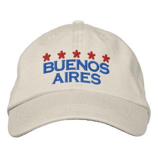 BUENOS AIRES - 001 EMBROIDERED BASEBALL HAT
