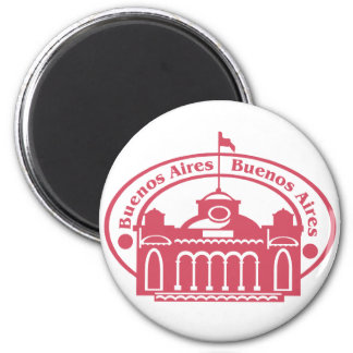 Buenos Aires 2 Inch Round Magnet