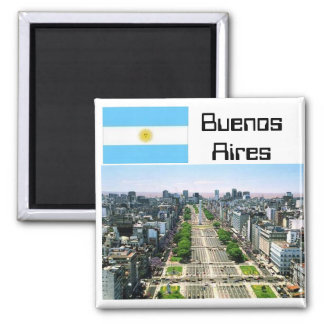 Buenos Aires 2 Inch Square Magnet