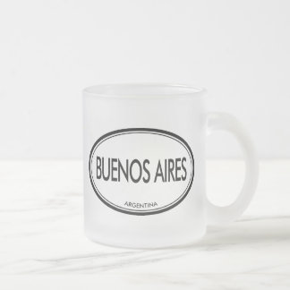 Buenos Aires, Argentina 10 Oz Frosted Glass Coffee Mug