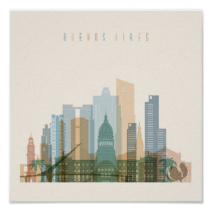 Buenos Aires, Argentina   City Skyline Poster