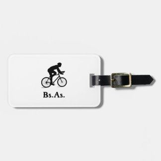 Buenos Aires Argentina Cycling BsAs Luggage Tag