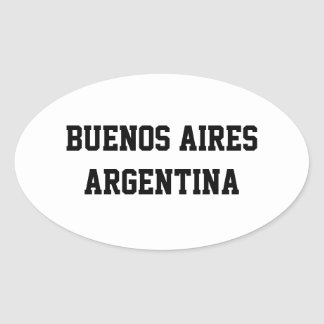Buenos Aires Argentina oval stickers