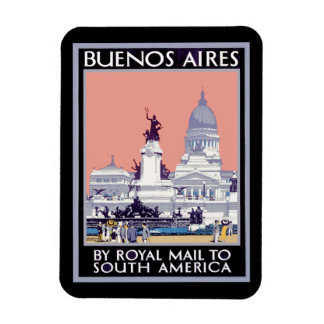 Buenos Aires by Royal Mail Poster Magnet