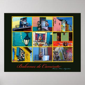 Buenos Aires Caminito Balconies Poster