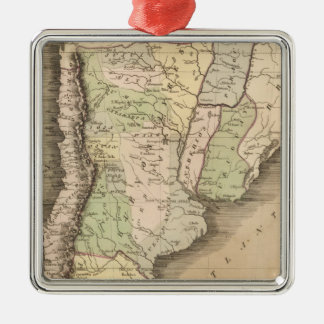 Buenos Aires, Chile, and Patagonia Metal Ornament