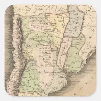 Buenos Aires Chile y Patagonia Calcomania Cuadradas