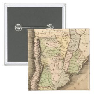 Buenos Aires, Chile, y Patagonia Pin Cuadrado