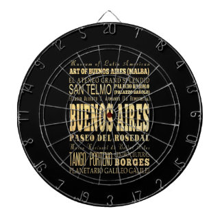Buenos Aires City of Argentina Typography Art Dart Board