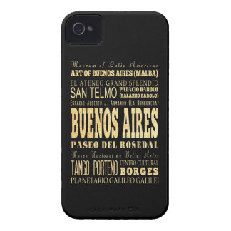 Buenos Aires City of Argentina Typography Art iPhone 4 Case
