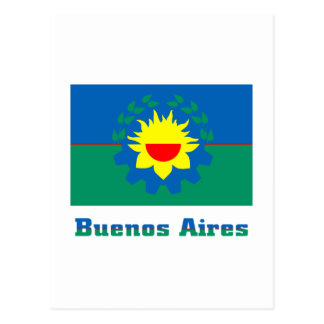 Buenos Aires flag with name Postcard