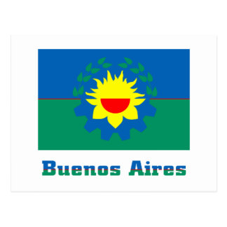 Buenos Aires flag with name Post Card