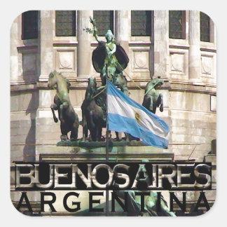 Buenos Aires Pegatina Cuadrada