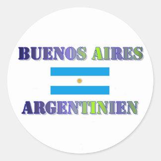 Buenos Aires Pegatina Redonda