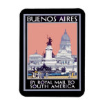 Buenos Aires por el poster de Royal Mail Imán