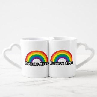 BUENOS AIRES PRIDE RAINBOW -.png Couples' Coffee Mug Set
