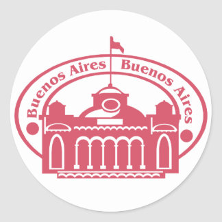 Buenos Aires Round Stickers