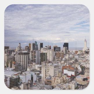 Buenos Aires Skyline 2 Square Sticker
