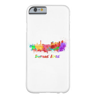 Buenos Aires skyline in watercolor Funda Barely There iPhone 6