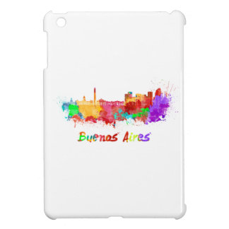 Buenos Aires skyline in watercolor iPad Mini Case