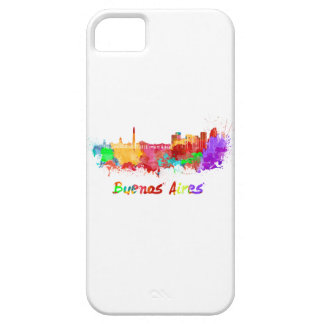 Buenos Aires skyline in watercolor iPhone SE/5/5s Case