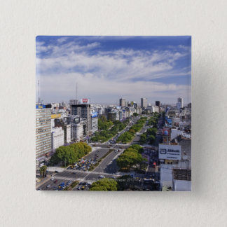 Buenos Aires Skyline Pinback Button