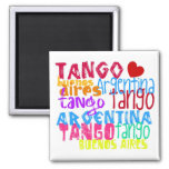 Buenos Aires Tango 2 Inch Square Magnet