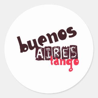 Buenos Aires Tango Round Stickers