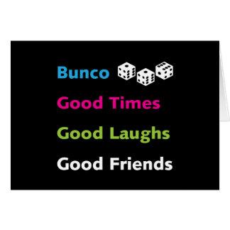 buenos amigos #2 del bunco tarjeta de felicitación