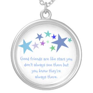 Buenos amigos como cita de las estrellas siempre a pendientes personalizados