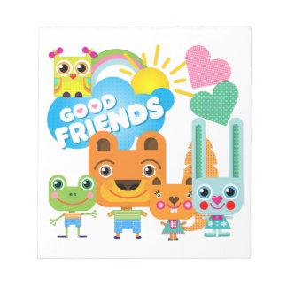 Buenos amigos de los animales bloc de notas
