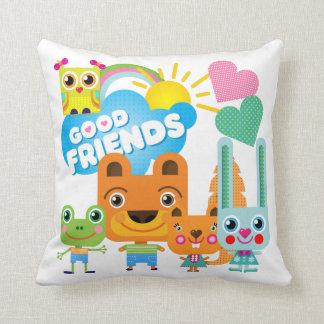 Buenos amigos de los animales cojín